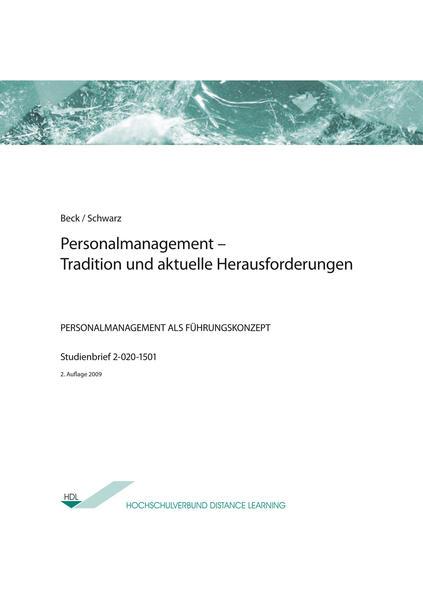 Personalmanagement – Tradition und aktuelle Herausforderungen - Coverbild