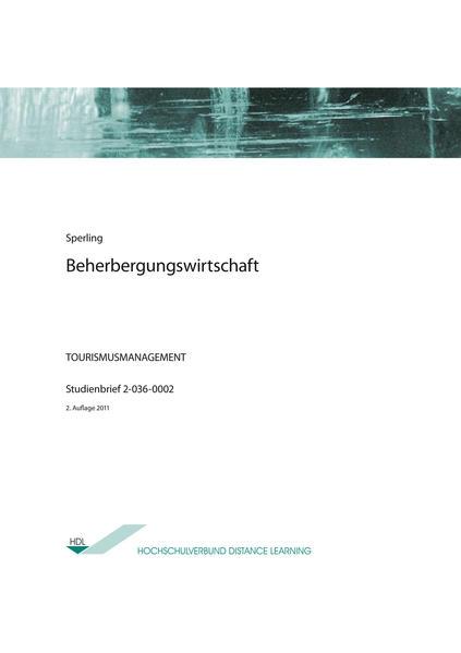 Beherbergungswirtschaft - Coverbild