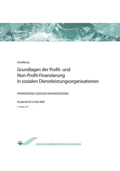 Grundlagen der Profit- und Non-Profit-Finanzierung in sozialen Dienstleistungsorganisationen - Coverbild