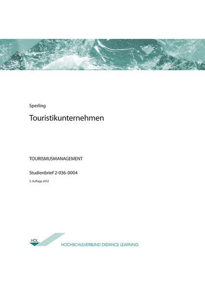 Touristikunternehmen - Coverbild