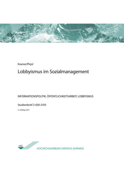 Lobbyismus im Sozialmanagement - Coverbild