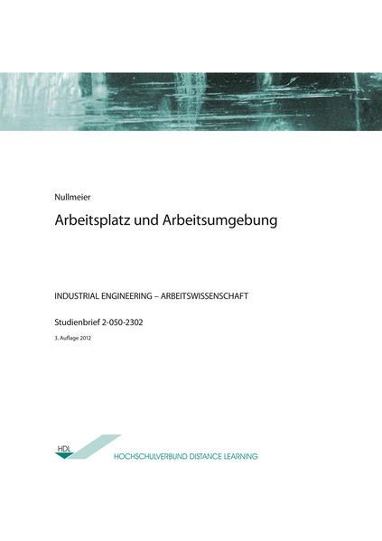 Arbeitsplatz und Arbeitsumgebung - Coverbild