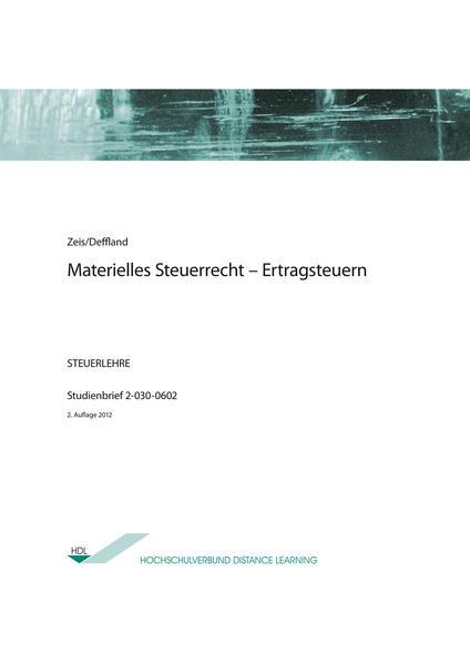 Materielles Steuerrecht - Ertragsteuern - Coverbild