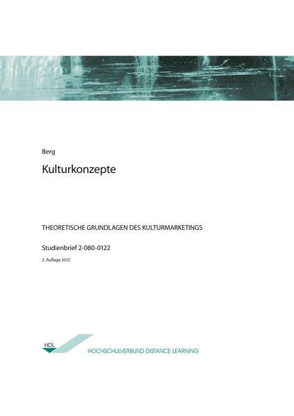 Kulturkonzepte - Coverbild