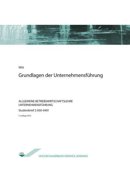 Grundlagen der Unternehmensführung - Coverbild