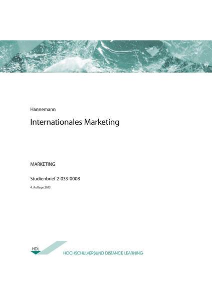 Internationales Marketing - Coverbild