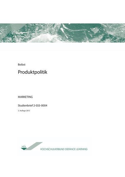 Produktpolitik - Coverbild