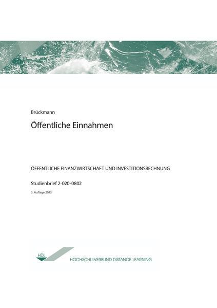 Öffentliche Einnahmen - Coverbild