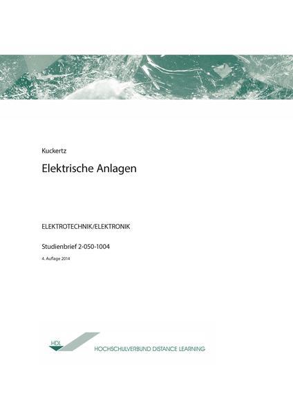 Elektrische Anlagen - Coverbild