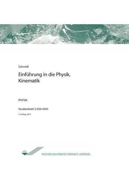 Einführung in die Physik, Kinematik - Coverbild