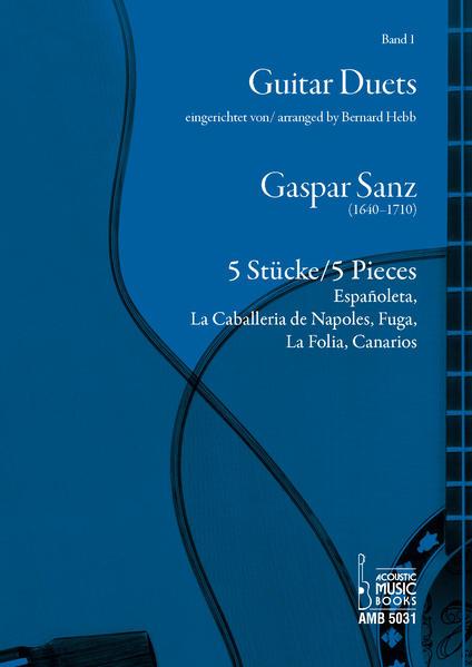 Gaspar Sanz. 5 Stücke/5 Pieces. - Coverbild