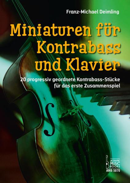 Miniaturen für Kontrabass und Klavier. - Coverbild