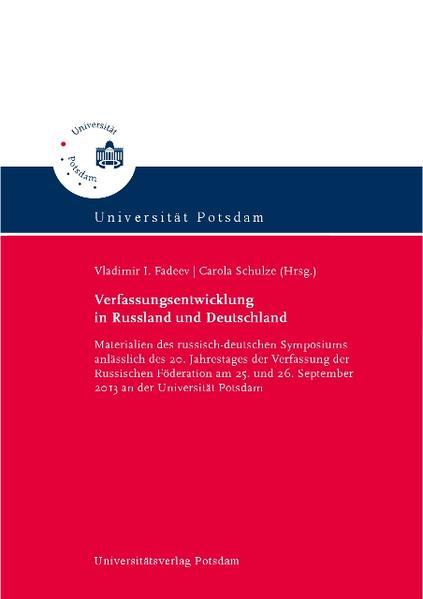 Verfassungsentwicklung in Russland und Deutschland - Coverbild