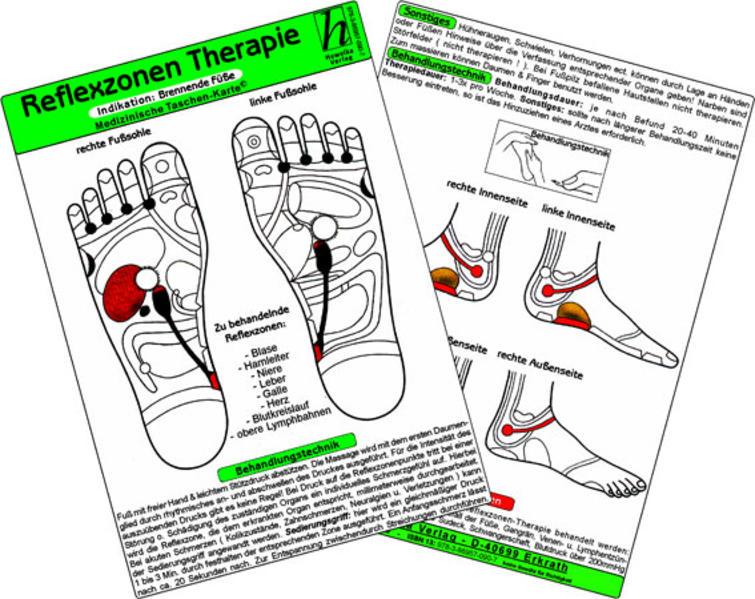 Reflexzonen - Indikation: Kopfschmerzen / Medizinische Taschen-Karte - Coverbild