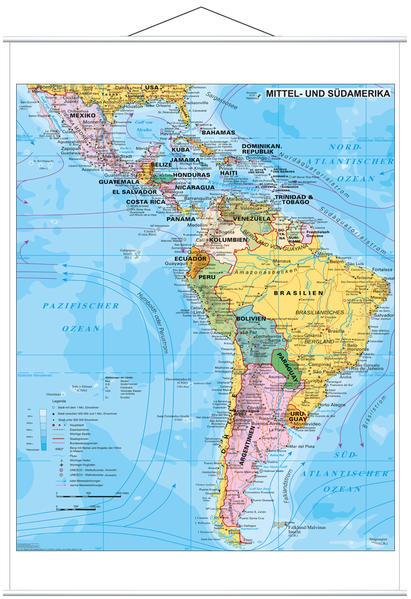 Mittel- und Südamerika politisch - Coverbild