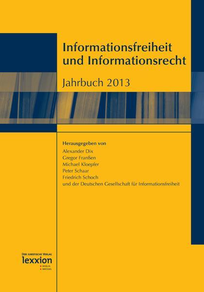 Informationsfreiheit und Informationsrecht - Coverbild