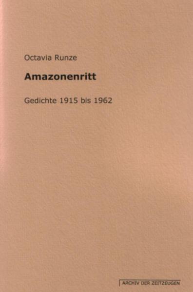 Amazonenritt - Gedichte 1915 bis 1962 - Coverbild