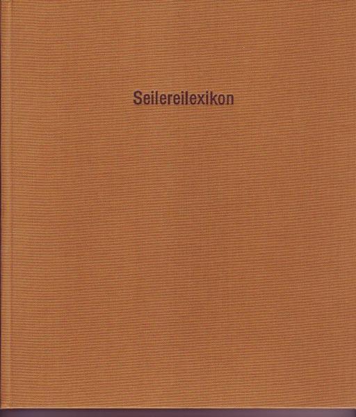 Seilereilexikon / Seilereilexikon - Coverbild