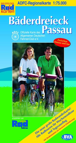 ADFC-Regionalkarte Bäderdreieck Passau mit Tagestouren-Vorschlägen, 1:75.000 - Coverbild