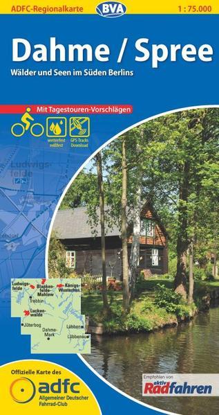 ADFC-Regionalkarte Dahme/Spree mit Tagestouren-Vorschlägen, 1:75.000, reiß- und wetterfest, GPS-Tracks Download - Coverbild