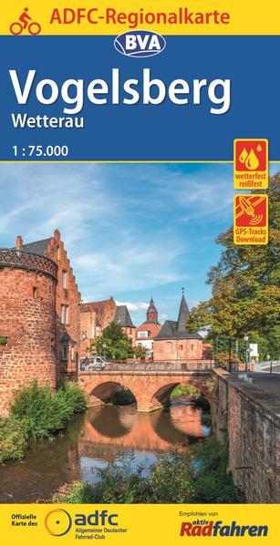 ADFC-Regionalkarte Vogelsberg Wetterau mit Tagestouren-Vorschlägen, 1:75.000, 1:75.000, reiß- und wetterfest, GPS-Tracks Download - Coverbild