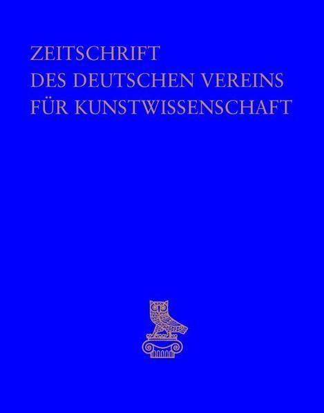 Zeitschrift des Deutschen Vereins für Kunstwissenschaft - Coverbild