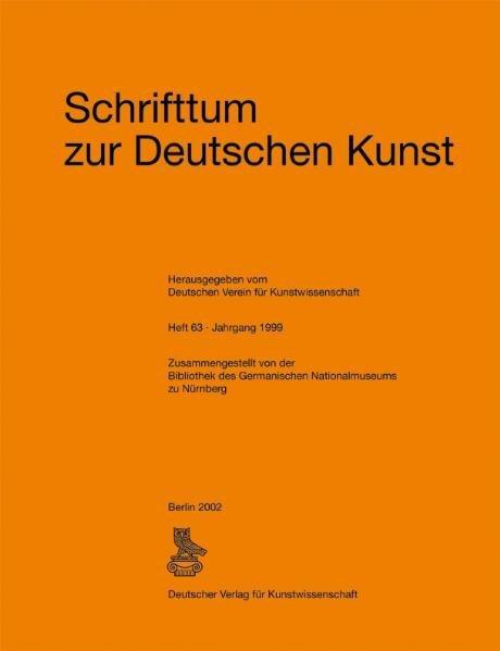 Schrifttum zur deutschen Kunst - Coverbild