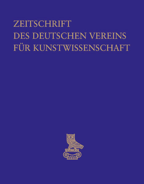 Zeitschrift des Deutschen Vereins für Kunstwissenschaft / Bd. 59/60 - Coverbild