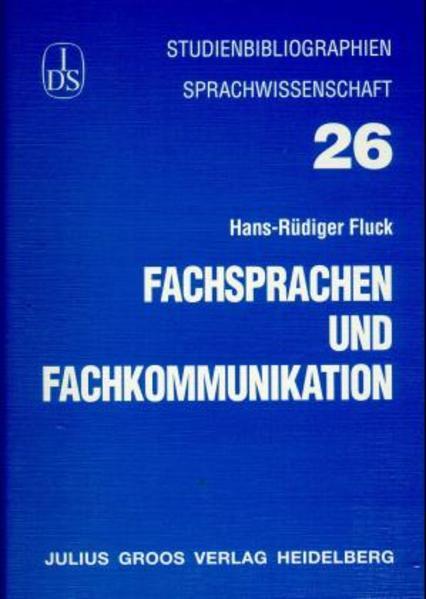Fachsprachen und Fachkommunikation - Coverbild