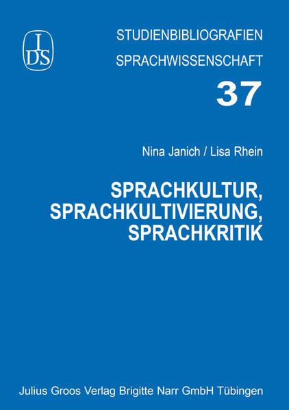 Sprachkultur, Sprachkultivierung, Sprachkritik - Coverbild