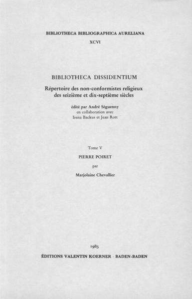 Bibliotheca Dissidentium V - Coverbild