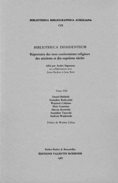 Bibliotheca Dissidentium VIII - Coverbild