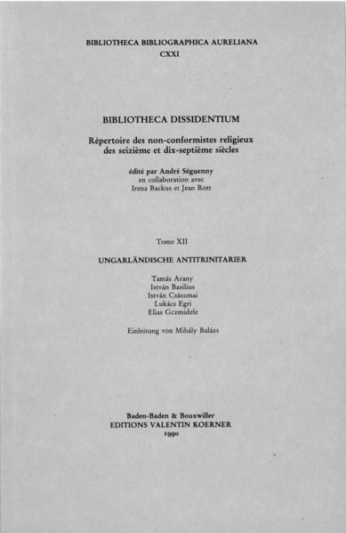 Bibliotheca Dissidentium XII - Coverbild