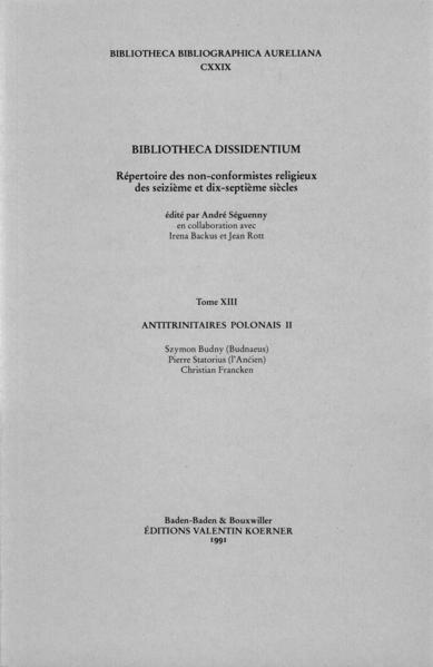 Bibliotheca Dissidentium XIII - Coverbild