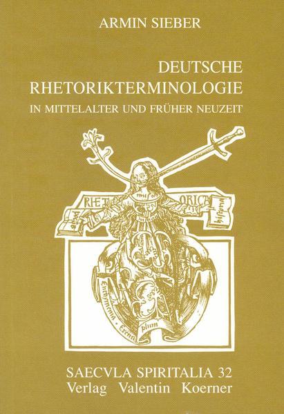 Deutsche Rhetorikterminologie in Mittelalter und früher Neuzeit - Coverbild