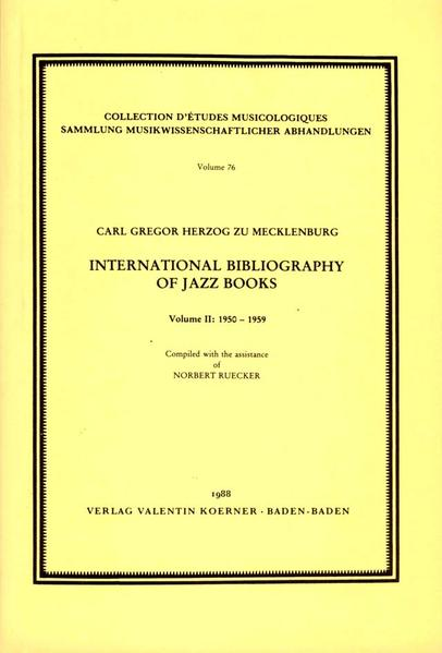 International Bibliography of Jazz Books - Coverbild