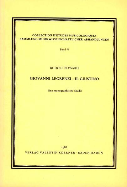 Giovanni Legrenzi - Il Giustino - Coverbild