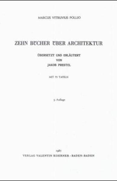Zehn Bücher über Architektur - Coverbild