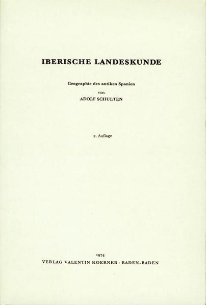 Iberische Landeskunde: Geographie des antiken Spanien - Coverbild