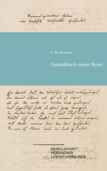Friedrich Maximilian Hessemer Gedenkbuch seiner Reise - Coverbild