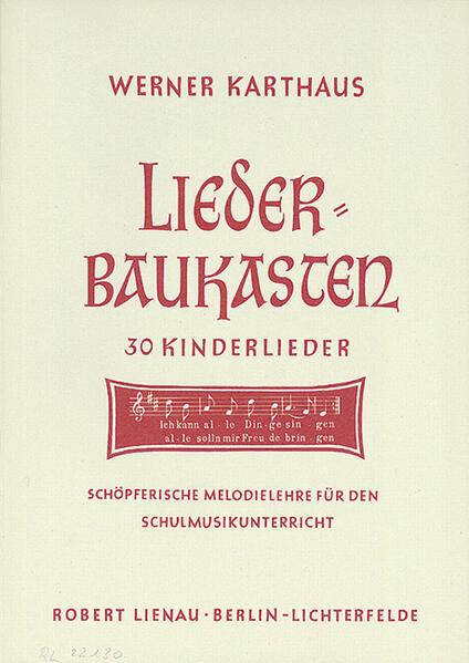 Liederbaukasten - Coverbild