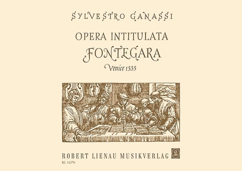 Opera intitulata Fontegara. Venedig 1535 - Coverbild