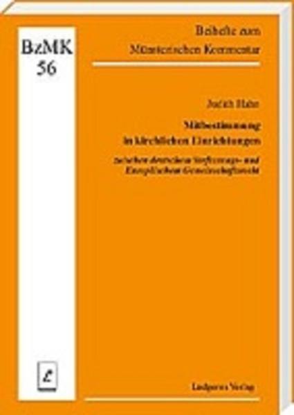 Mitbestimmung in kirchlichen Einrichtungen zwischen deutschem Verfassungs- und Europäischem Gemeinschaftsrecht - Coverbild