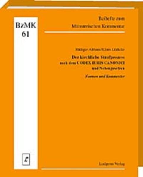 Der kirchliche Strafprozess nach dem CODEX IURIS CANONICI und Nebengesetzen - Coverbild