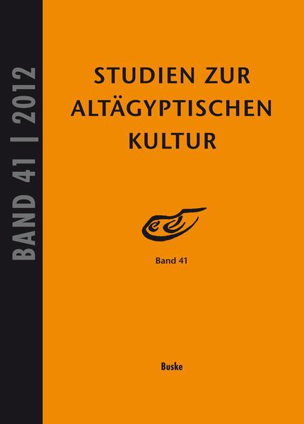 Studien zur Altägyptischen Kultur Band 41 - Coverbild