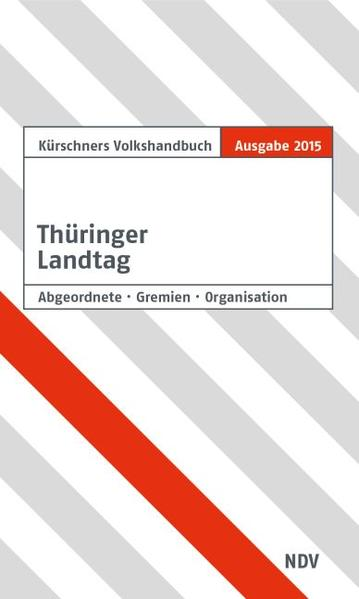 Kürschners Volkshandbuch Landtag Thüringen - Coverbild