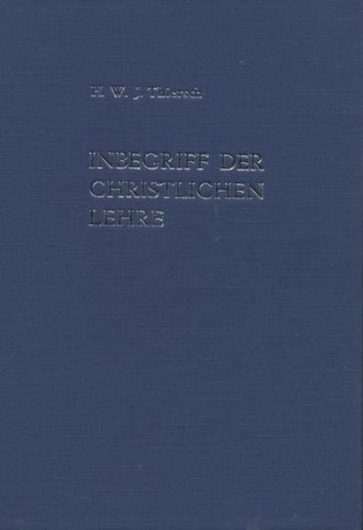 Inbegriff der christlichen Lehre. Ein biblisch-apostolisches Glaubensbuch - Coverbild