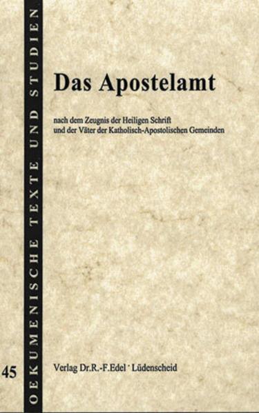 Das Apostelamt - Coverbild