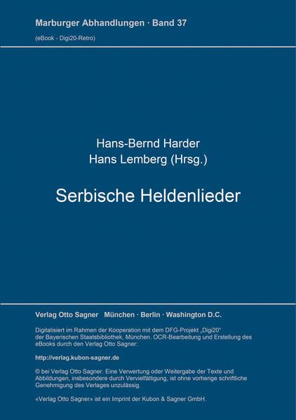 Serbische Heldenlieder - Coverbild