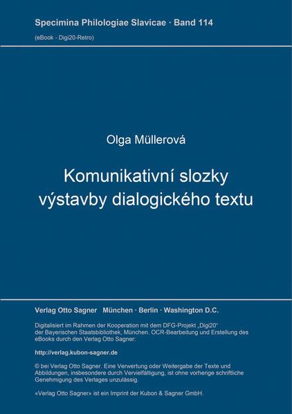 Komunikativni slozky vystavby dialogickeho textu - Coverbild